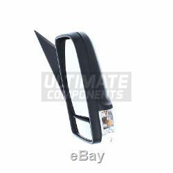 Mercedes Sprinter Van 2006- Manual Long Arm Wing Mirror Black Drivers Side O/S