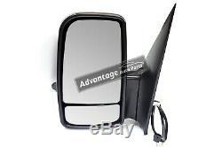 Mercedes Sprinter Van 2006-On Manual Short Arm Wing Door Mirror Passenger Side