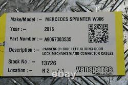Mercedes Sprinter W906 Passenger Side Sliding Door Lock Mechanism 2010-2018
