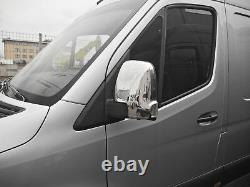 Mercedes Sprinter W907 2018+ Van Wing Side Mirror Covers Right & Left Chrome