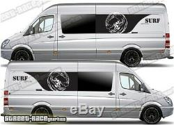 Motorhome Camper Surf van 052 side graphics sticker VW Crafter Mercedes Sprinter