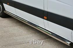 New Mercedes Sprinter Lwb Side Bars Side Steps 70mm For Lhd Vehicles 2006-2018