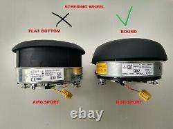 OEM MERCEDES A W177 C W205 SPRINTER STEERING WHEEL BLACK AIRBAG non sport (2sc)