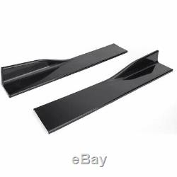 Pair 2M Extensions Side Skirts Panel For Honda Civic Accord Coupe Sedan 9TH 10TH