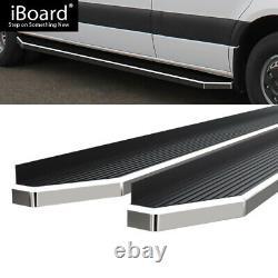 Polished 6 iBoard Side Step Bar Fit 10-18 Dodge Mercedes-Benz Sprinter