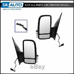 Power Heated Signal Textured Black Mirror L Left R Right PAIR for 06-13 Sprinter