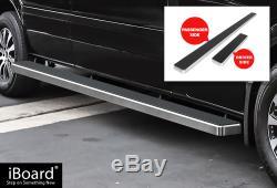 Premium 5 Silver iBoard Side Steps Fit 10-19 Dodge / Mercedes-Benz Sprinter