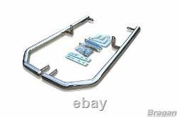 Rear Corner Bar + LEDs For Mercedes Sprinter L4 14 18 Stainless Steel Bumper