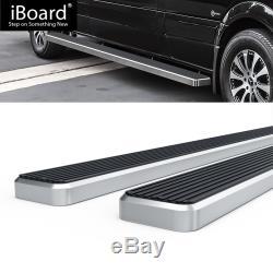 Running Board Side Step 5in Silver Fit Dodge / Mercedes-Benz Sprinter 10-19