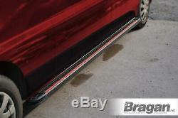 Running Boards BLACK For 2006 2014 Mercedes Sprinter MWB Van Side Steps Skirts
