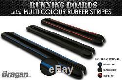 Running Boards BLACK For 2014 2018 Mercedes Sprinter MWB Van Side Steps Skirts