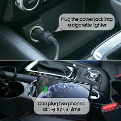 Set (2 Pcs) Car Seat Console Gap Filler Side Organizer Box With USB interface
