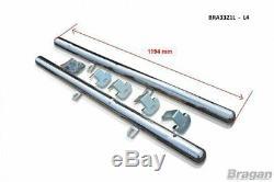 Side Bar For Mercedes Sprinter ELWB 2006-2014 Polished Stainless Tube Van Skirts
