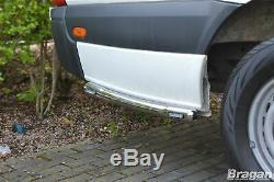 Side Bar + LEDs For Mercedes Sprinter L3 LWB 2006 2014 Polished Stainless Van