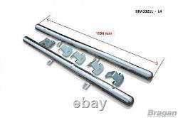 Side Bar + LEDs For Mercedes Sprinter L4 LWB 2014-2018 Stainless Tube Van Skirts