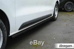 Side Bars BLACK For Mercedes Sprinter MWB 18+ Stainless Steel Van Steps Boards