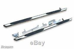 Side Bars For Mercedes Sprinter MWB 2006-2014 Polished Stainless Tube Van Skirts