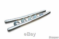 Side Bars + LEDs For Mercedes Sprinter L4 ELWB 2006-14 Stainless Tube Van Skirts