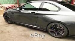 Side Skirts Lip For Mercedes Benz W205 C250 C300 C400 C63 Universal Carbon Fiber