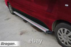 To Fit 06-14 Mercedes Sprinter SWB Running Board Multi Colour Aluminium -SILVER