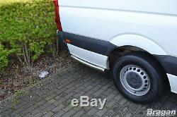 To Fit 14-18 L3 M LWB Mercedes Sprinter Stainless Steel Rear Of Wheel Side Bar