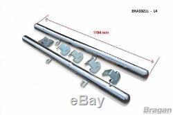 To Fit 2006 2014 L4 ELWB Mercedes Sprinter Rear Of Wheel Side Bar + LEDs