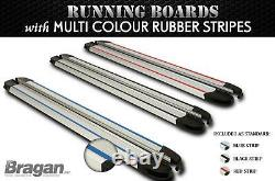 To Fit 2006 2014 Mercedes Sprinter MWB Running Boards SILVER Side Steps Skirts