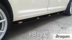 To Fit 2006 2014 Mercedes Sprinter SWB Van Black Steel Side Bars + Amber LEDs