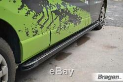 To Fit 2014 2018 Mercedes Sprinter MWB BLACK Running Boards Van Side Steps