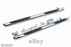 To Fit 2014 2018 Mercedes Sprinter MWB Side Bars Steps Pads x4 Tapered Ends