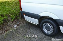 To Fit 2018+ L3 M LWB Mercedes Sprinter Stainless Steel Rear Of Wheel Side Bar