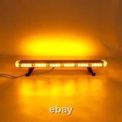 US 31 54 LED Emergency Warning Strobe Light Bar Beacon Double Side Lamp Amber