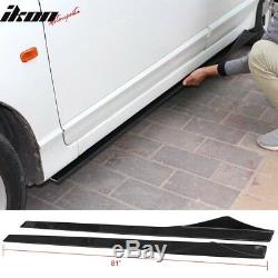 Universal 81 Inches Side Skirts Extension Splitter Carbon Fiber CF