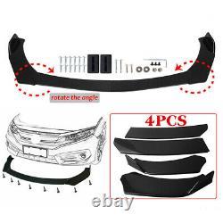 Universal Carbon Fiber Look Car Front Bumper Lip Splitter Side Skirt Rear Lip