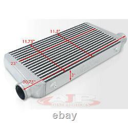Universal Full Aluminum Turbo Front Mount Intercooler 31x11.75x3 Bar Plate