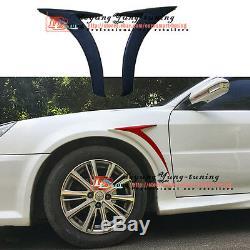 Unpainted Side Fender Vent Cover Trim Air Aero Wing Spoiler for MB Benz Sedan