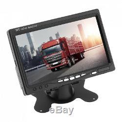 Vehicle DVR Camera Recorder Kit + 7 Display + 4x Front Rear Side Backup Camera