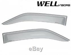 WellVisors SMOKE TINTED Side Vent Window Visors For 10-17 Mercedes Benz Sprinter