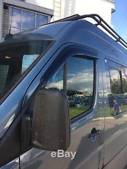 Window Side Visors Rain Guard Deflectors For Mercedes Sprinter 2007-2013 RV