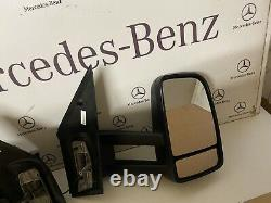 X2 Genuine Mercedes sprinter Manual Long Arm Mirrors Left & Right. Fit 2006.2018