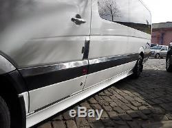 2006-17 Mercedes Sprinter W906 Chrome Porte Latérale Str. 10pcs Châssis Moyen Ssteel