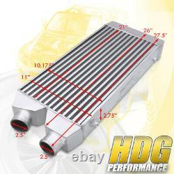 27.5x11x2.75 Même Tube Latéral Fin Aluminium Turbo Fmic Front Mount Intercooler