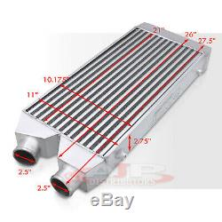 27.5x11x2.75 Universal Fmic Chargeur Turbo En Aluminium Intercooler Côté I / O