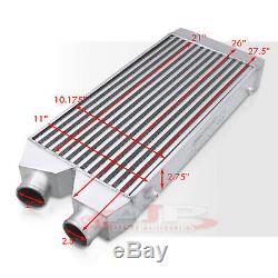 28x11x2.75 Universal Fmic Chargeur Turbo En Aluminium Intercooler Côté I / O