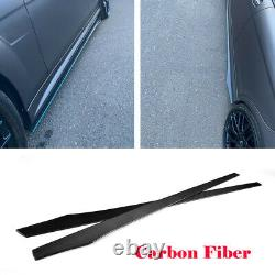 2pcs Carbon Fiber Side Skirts Extension Pour Benz W204 W205 W213 W222 W218 205cm