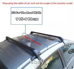 2pcs Universal Roof Rack Overhead Side Rails Bar Porte-bagages Aluminium Alliage