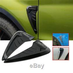 2pcs Universal Sport Side Wing Fender Vent Garniture Air Cover Flow Décoration