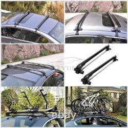 2x45 Support De Toit En Alliage D'aluminium Overhead Side Rails Bars Luggage Carrier Bracket