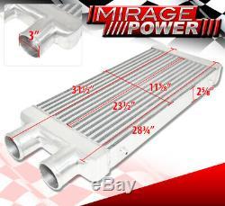 31.75x11.5x2.75 Aluminium Frontale Intercooler 3 Côté Entrée Sortie