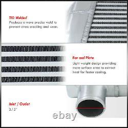 31.75x11.5x2.75 Avant Mount Aluminium Intercooler Same Side 3 Entrée Outlet
